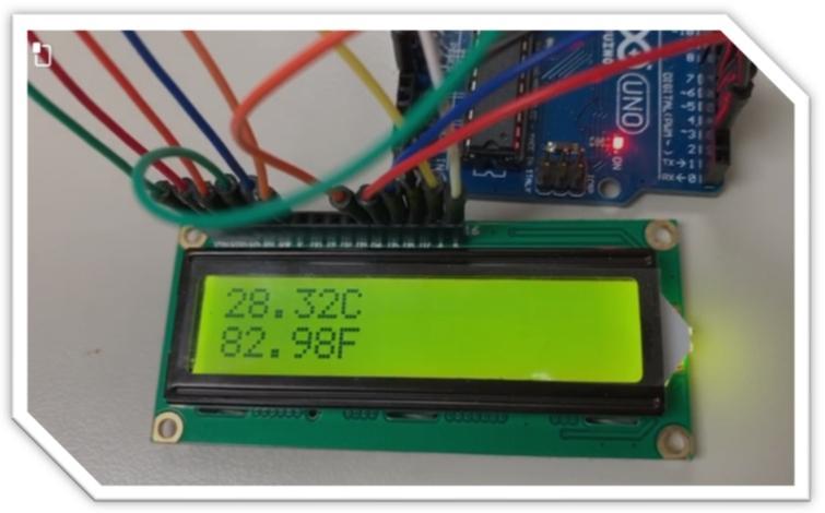 Temperature sensor and Arduino board.